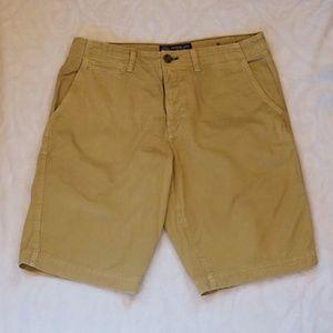 American Eagle Longer Length Khaki Shorts